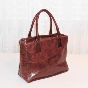 Saks Fifth Avenue Vtg Leather Satchel Bag Italy